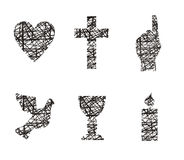 Christian symbols Stock Images