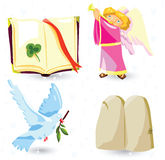 Christian symbols royalty free illustration