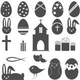Christian Symbols Easter eggs il coniglietto Immagini Stock