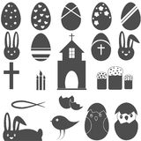Christian Symbols Easter eggs le lapin Images stock
