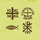 Christian Symbols et signes antiques Illustration Libre de Droits