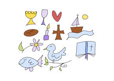 Christian symbols for kids Royalty Free Stock Photos