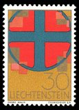 Christian symbols. Liechtenstein - stamp printed in1967, Memorable, Christian symbols Stock Photography
