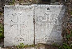 Christian Symbols at Philadelphia in Turkey Stock Photos