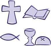 Christian symbols Stock Photo