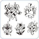 Christian symbols - vector illustration. Royalty Free Stock Photo