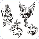 Christian symbols - vector illustration. Royalty Free Stock Images