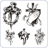 Christian symbols - vector illustration. Stock Photography