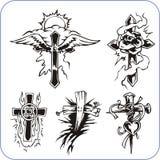Christian symbols - vector illustration. Stock Images