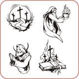 Christian symbols - vector illustration. Stock Photography