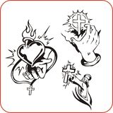 Christian symbols - vector illustration. Stock Image