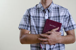 Christian Teenager Holding a Bible Royalty Free Stock Photos
