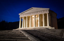Christian temple by Antonio Canova. Roman and Greek religious architecture, building as pantheon and parthenon. Church in Italy. Royalty Free Stock Photos