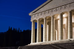 Christian temple by Antonio Canova. Roman and Greek religious architecture, building as pantheon and parthenon. Church in Italy. Royalty Free Stock Image