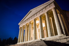 Christian temple by Antonio Canova. Roman and Greek religious architecture, building as pantheon and parthenon. Church in Italy. Royalty Free Stock Photography