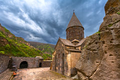 Christian temple GEGHARD monastery (Armenia) Royalty Free Stock Photography