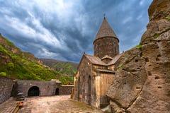 Christian temple GEGHARD monastery (Armenia) royalty free stock photography