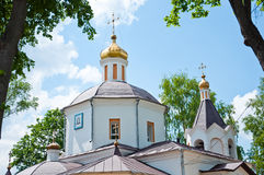 Christian temple, landmark in Moscow, Russia Stock Photos