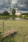 Christian temple at a pond. Royalty Free Stock Photos