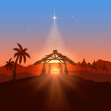 Christian theme with Christmas star Stock Photography