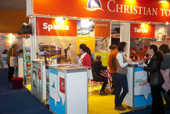 Christian Tour booth Royalty Free Stock Image