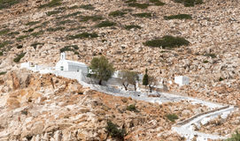 Christian traditional white Greek church at Sifnos island, Greec Stock Photography