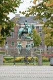 Christian V statue in Copenhagen Stock Image