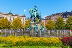 Christian V statue in Copenhagen, Denmark Royalty Free Stock Photography