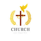 Christian vector logo. Royalty Free Stock Photography