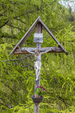 Christian wayside shrine in South Tyrol Stock Images