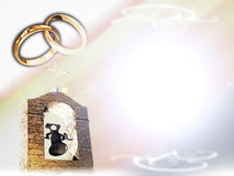 Christian wedding announcement Royalty Free Stock Photography