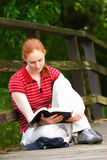 A Christian Woman with Bible Stock Photos