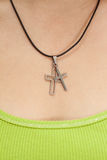 Christian woman with cross necklace Stock Photo