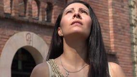 Christian Woman Praying at Church stock video