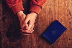 Christian woman praying with hands folded Royalty Free Stock Photography