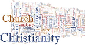 Christian word cloud Stock Image
