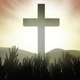 Christian worshippers at the Cross Royalty Free Stock Images