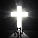 Christian Worshippers At The Cross Royalty Free Stock Image