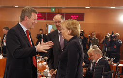 Christian Wulff, Chancellor Angela Merkel Royalty Free Stock Image