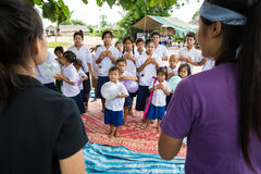 Christian Youth singing. TAK THAILAND - SEP28 : Unidentified  Karen Christian Youth are singing religious content song for  Karen student at school in rural area Stock Images
