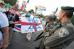 Christian Zionists in Jeruzalem Royalty-vrije Stock Afbeeldingen