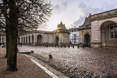 Christianborg palace in Copenhagen, Denmark. Beautiful square in european capital Copenhagen in winter Stock Photography