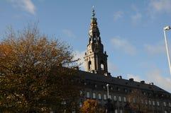 CHRISTIANBORG PALACE-DANISH议会大厦 免版税库存图片