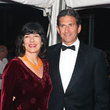 Christiane Amanpour and Jamie Rubin. TV anchor/correspondent Christiane Amanpour with husband Jamie Rubin on the red carpet at the Time Magazine 100 Most Stock Photography