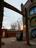 Christiania. The entrance of Christiania District in Copenhagen royalty free stock image