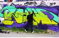 Christiania graffiti artyści Obrazy Royalty Free