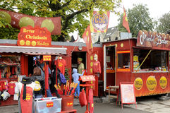 CHRISTIANIA HASH FREE AREA. 04 September  2016- Christiania residents oblished Hash Push steer on 2 spet.2016 due to danisb policeme�n been shot and Stock Photos