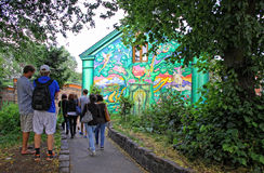 Christiania - self-proclaimed autonomous neighbourhood in Copenh Royalty Free Stock Images