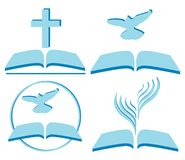 Christianity. Vector symbols of Christianity, several options Stock Images