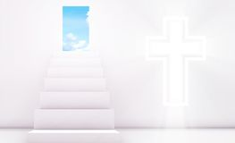 Christianity. With the Holy Cross with Doorway Stock Photography